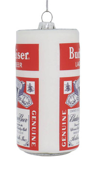 Retro Budweiser Lager Glass Ornament side