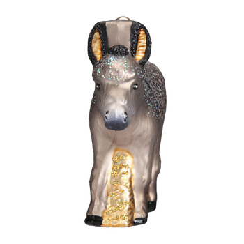 Donkey Glass Ornament front