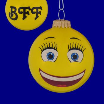 BFF Emoji Round Ornament