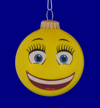 BFF Emoji Round Ornament front face