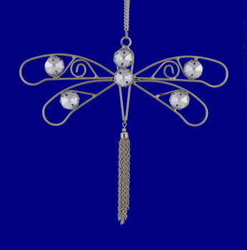 Jeweled Wire Dragonfly Ornament