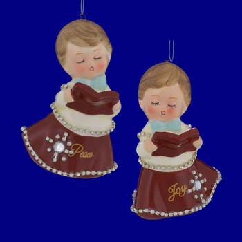 Retro Choir Girl Porcelain Ornament