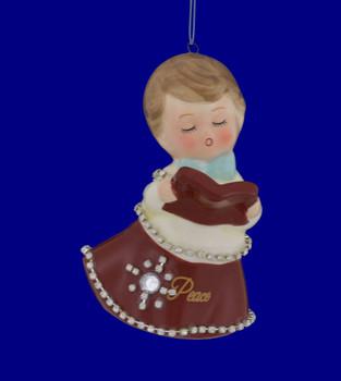 Retro Choir Girl Porcelain Ornament Peace