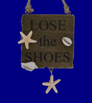 Loose the Shoes Beach Sign Wood Ornament