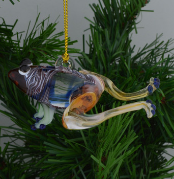 frog Egyptian Glass Ornament top