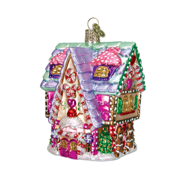 """Cupcake Cottage Glass Ornament, 4"""", OWC #20029"""