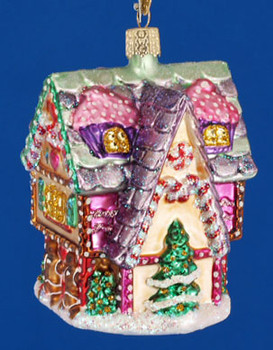 Cupcake Cottage Old World Christmas Glass Ornament 20029 inset