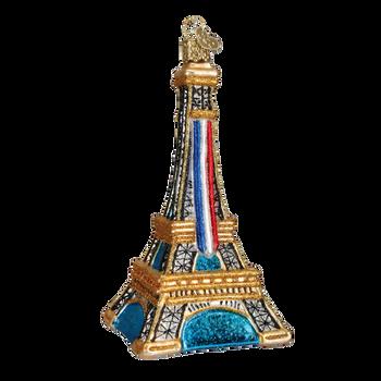Paris Eiffel Tower Glass Ornament