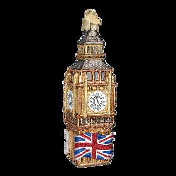 London Big Ben Glass Ornament back