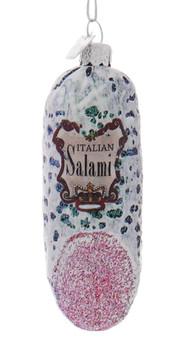 Italian Deli Salami Glass Ornament