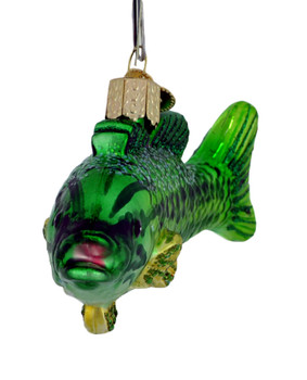 Smallmouth Bass Glass Ornament 12522 Old World Christmas front