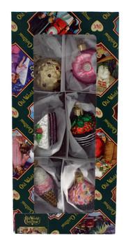Mini Dessert Glass Ornaments 6 piece Set 14026 Old World Christmas in Box