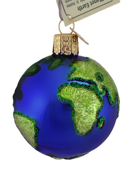 Planet Earth Glass Ornament 22038 Old World Christmas side