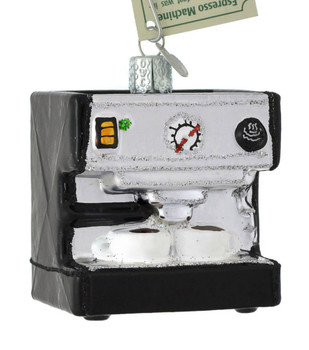 Espresso Machine Glass Ornament 32319 Old World Christmas