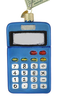 Math Calculator Glass Ornament 32325 Old World Christmas front
