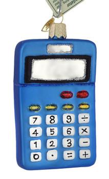 Math Calculator Glass Ornament 32325 Old World Christmas