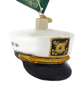 Captains Cap Glass Ornament 32331 Old World Christmas