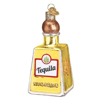 Tequila Bottle Glass Ornament 32337 Old World Christmas