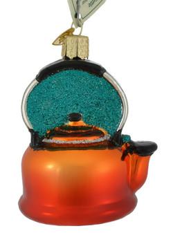 "Tea Kettle Glass Ornament, 3 1/4"", OWC# 32349"