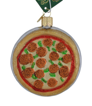 Pizza Pie Glass Ornament 32350 Old World Christmas
