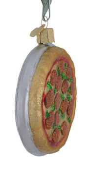 Pizza Pie Glass Ornament 32350 Old World Christmas side