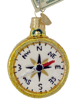 Compass Glass Ornament 36226 Old World Christmas