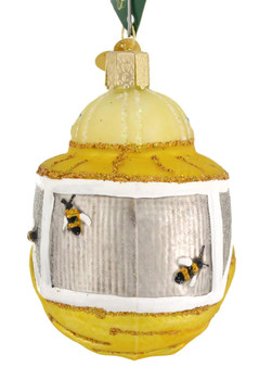 Beekeepers Hood Old World Christmas Glass Ornament 36227 front
