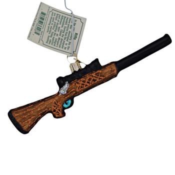 Hunting Rifle Glass Ornament 36228 Old World Christmas