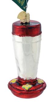 Hummingbird Feeder Glass Ornament 36235 Old World Christmas top angle