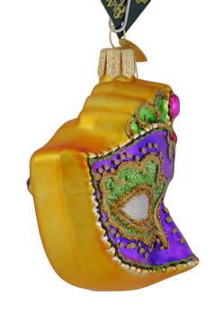 Mardi Gras Mask Glass Ornament 36241 Old World Christmas side