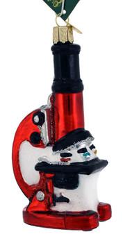 "Microscope Glass Ornament, 4 7/8"", OWC# 36242"
