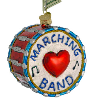 I Love Marching Band Glass Ornament 38052 Old World Christmas