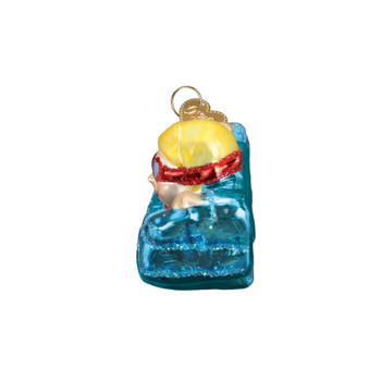 Girl Swimming Glass Ornament 44130 Old World Christmas side