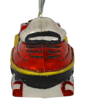 Snowmobile Glass Ornament 46074 Old World Christmas front