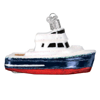 Charter Boat Glass Ornament 46078 Old World Christmas