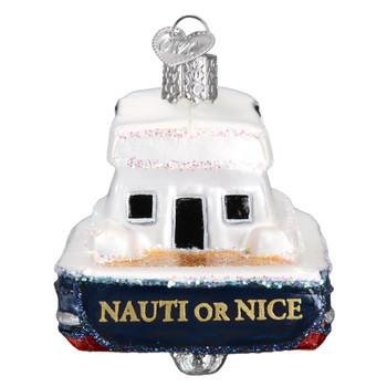 Charter Boat Glass Ornament 46078 Old World Christmas back