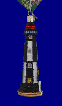 New Cape Henry Lighthouse Old World Christmas Glass Ornament 20028 inset