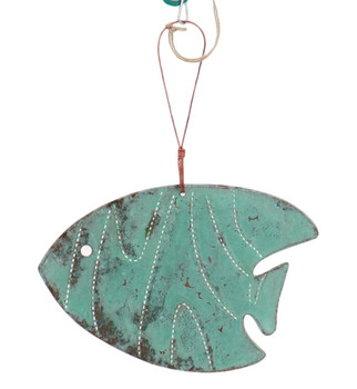 Tropical Fish Copper Ornament Front Full String