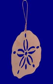 Sand Dollar Copper Ornament back