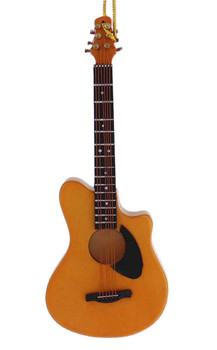 Mini Acoustic Guitar Ornament, Wood