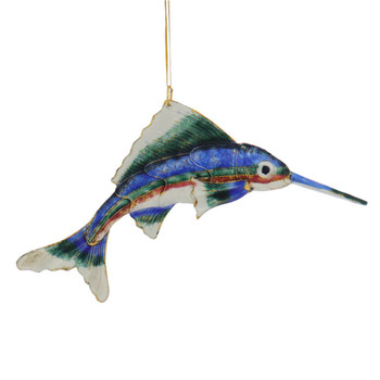 Cloisonne Sailfish Ornament
