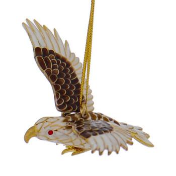 Cloisonne Hawk or Eagle Ornament