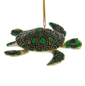 Cloisonne Sea Turtle Ornament