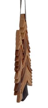 Pine Trees Intarsia Wood Ornament side