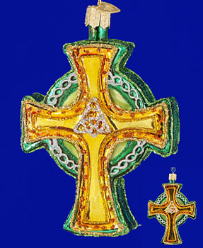 Trinity Triquetra Celtic Cross Old World Christmas Glass Ornament 36117