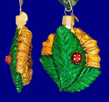 Garden SunflowerKansas Flower Old World Christmas Glass Ornament 36124 inset