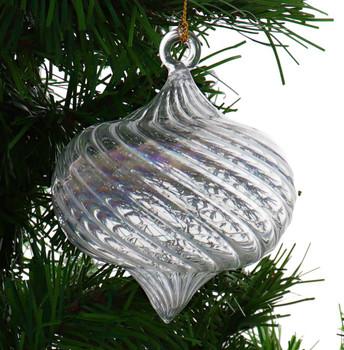 Iridescent Onion Shape Round Mouth-Blown Egyptian Glass Ornament Garland 1