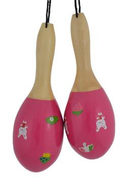 Pink Mini Maracas Ornament side by side