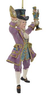 Lavender Nutcracker Suite Drosselmeyer Ornament Kurt Adler side