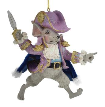 Lavender Nutcracker Suite Mouse King Ornament C7654